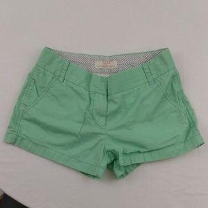 J Crew Chino Shorts Mint Green